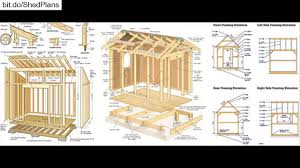 Free 10x12 Gambrel Shed Plans by Shed Plans Free 12x16 Shed Plans Youtube