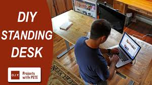 diy standing desk diy pete u0026 stand modern youtube
