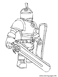 Print Roblox Knight Coloring Pages