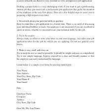 Example Of Cover Letter For Nursing Job