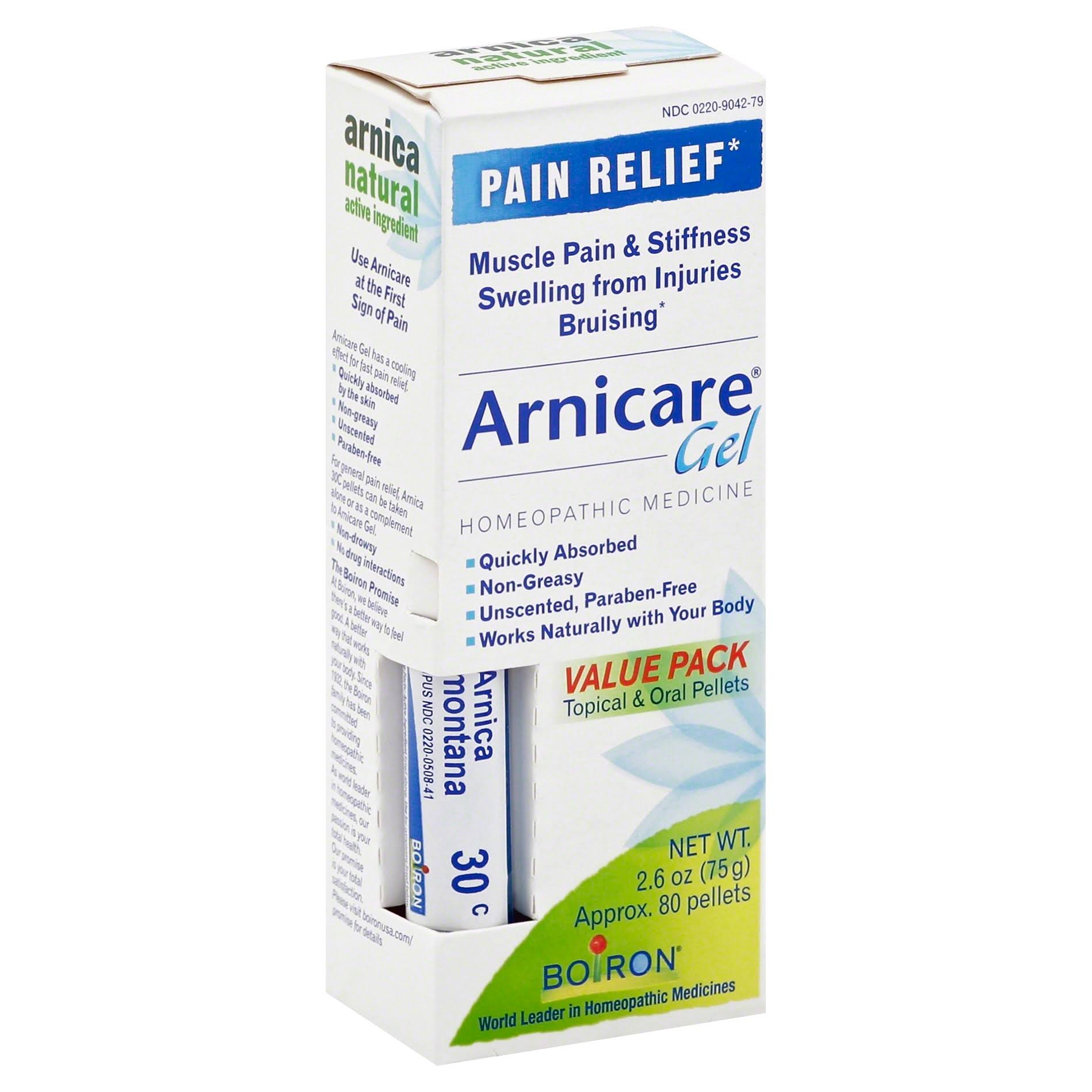 Boiron Arnicare Homeopathic Medicine Pain Relief Gel Value Pack - 2.6oz