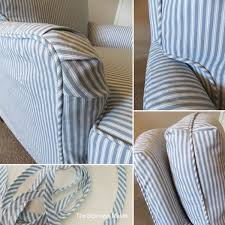 Ticking Stripe Slipcover For Old Drexel Chair | The ...