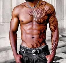Chest Tribal Tattoo For Men 1