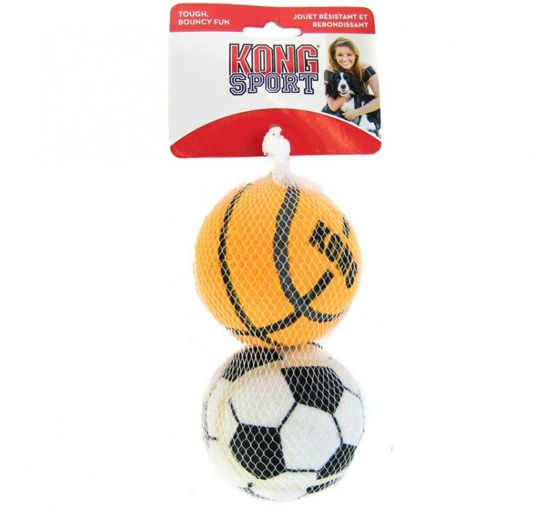 Kong Assorted Sports Balls Squeaky Dog Toys
