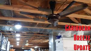 Encon Ceiling Fan Manual by Caribbean Breeze Ceiling Fan Install Update Youtube