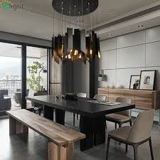 Aliexpress Buy Modern Wind Chimes Led Pendant Chandelier Lights Metal Dining Room Chandeliers Lighting Living Hanging Light Fixtures From