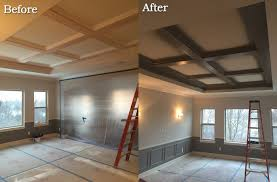 100 Cieling Beams Painted Ceiling Before After WwwGradschoolfairscom