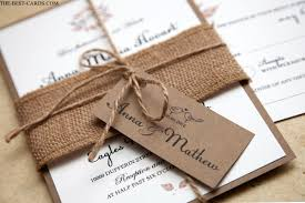 Rustic Wedding Invitation With Brown Bag Paper