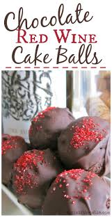 Chocolate Red Wine Cake Balls