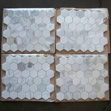 calacatta gold 2 inch hexagon mosaic tile honed marble from