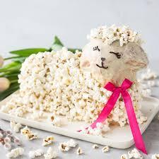 zuckerfreies osterlamm mit popcorn fell