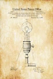 edison electric l and holder patent 1882 light bulb edison
