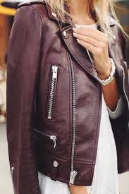 the color of the season is burgundy burgundy leather jacket
