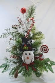 C1110 Holiday Christmas Tree Cemetery Cone Vase ArrangementTombstone Saddle