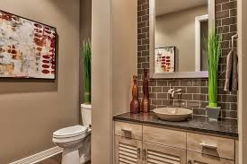 omaha pictures on walls powder room transitional with glass brown