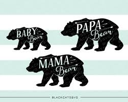 Bear Family Baby Mama Papa