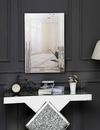 silber venetian schminkspiegel schwarz holz backing richtop