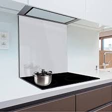 küchenrückwand aus gehärtetem glas 60x70 cm glaspaneel 4 cm dicke farbe hellgrau fmk 56 072