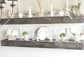 DIY FLOATING DINING ROOM SHELVES