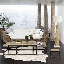 Decorate A Home In Modern Rustic Style Living Room Lounge Tree Stump Decor