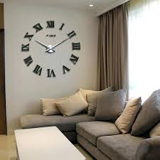 clock living room big clocks for living room large decorative wall