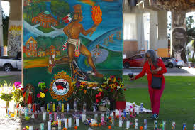 Chicano Park Murals Restoration by Witnesses Community Grieve At Chicano Park Victims Id U0027d The