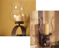 wrought iron candle wall sconce scroll wall hurricane lantern