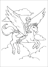 Unicorn Coloring Pages For Kids Barbie Free Printable Online Anime