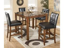 Ashley Signature Design Theo 5 Piece Square Counter Height Table Set With Bar Stools