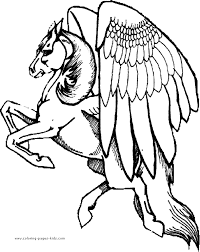 Pegasus Color Page Fantasy And Medieval Coloring Pages For Kids Thousands Of Free Printable