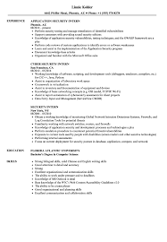 Download Security Intern Resume Sample As Image File