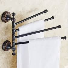 messing material vintage design dreh handtuchhalter 4 bar aktivitäten handtuchhalter handtuchhalter bad accessoires falten schwarz bar