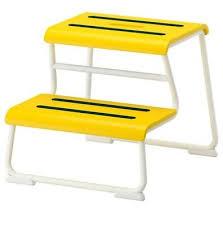 ikea glotten tritthocker gelb badezimmer hocker stufenhocker