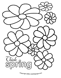 Flowers Free Coloring Pages For Kids