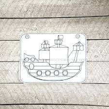 100 Pirate Ship Design In The Hoop DoodleIt Coloring Page Machine Embroidery