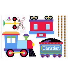 Trains, Planes & Trucks Personalized Jumbo Peel & Stick Kids Wall ...