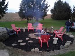 Pea Gravel Patio Plans by Took Down The Pool And Made A Huge Fire Pit Area Added Black