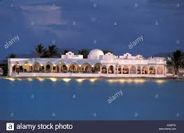 CARIBBEAN Anguilla British West Indies Cap Juluca Resort Pimms Restaurant At Night