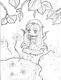 Kawaii Anime Coloring Pages Free