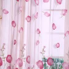 100 x 200 cm colorful tulpen druck gardinen sheer fall tüll
