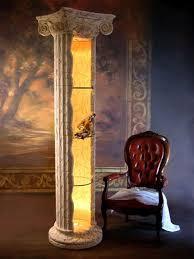 antik lichtsäule regal vitrine griechischer stil pol 14 220 h g