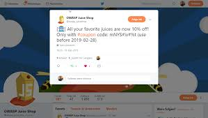 Coupon Tweet-Bot · Issue #810 · Bkimminich/juice-shop · GitHub Bath And Body Works Coupon Codes Up To 60 Off Dec 2019 Nyc Pass Promo Code August 2018 Sale Groupon Code Extra 15 Off July Uae 20 Off Plus Free Shipping Online At American Eagle Noon Promo Aed 150 Discount Amazon Ae Ramadan Offers Deals Dubai Pages 1 3 Text 25 Spyrix Personal Monitor Discount Coupon What Are Coupons How To Use Rezeem Tweetbot Issue 810 Bkimminhjuiceshop Github Chegg Yahoo Answers Gainesville Va Coupons Fashion Nova Holiday Gas Station Coffee Contact For Lenscom Diva Deals Handbags