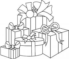 Gift Coloring Page For Christmas