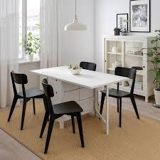 norden lisabo tisch und 4 stühle weiß schwarz 26 89 152x80 cm