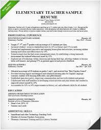 Resume Templates For Teachers Second Grade Teacher Best Job Application Year
