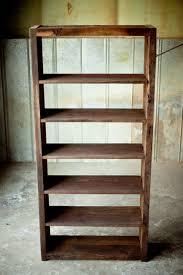 Reclaimed Wood Book Shelf Rustic Sons Of Sawdust