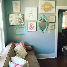 Instagram Gallery Wall In Peach Teal And Gold Glitter Pineapple Home Decor Office DIY