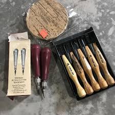 Tools For Wood Cut And Linoleum Printmaking