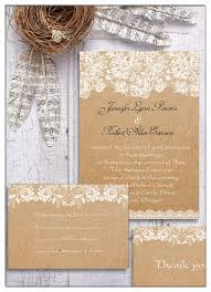 Rsvp Cards EWWS048 Country Rustic Printed Lace Wedding Invitations Ewi270