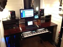 Home Studio Desk Simple Recording Music Pinterest